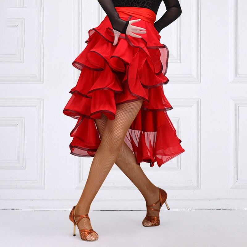 Latin Dance Skirt Bullfighting Hip Scarf Tutu Skirts Cha Cha Rumba Samba Salsa Dancing Clothes Ladies Performance Wear DNV11913