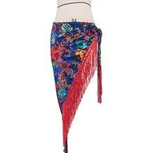 Женский бархатный костюм для танца живота треугольный набедренный