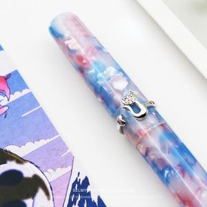 Image 5 - Kyoto chat anneau stylo plume métal acier inoxydable nouveau Broen couleur stylo plume Fine plume EF/F écriture cadeau école fournitures de bureau