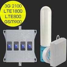 Europa repetidor de 4G LTE 800, 900, 1800, 2100 4g Internet amplificador de señal móvil GSM 2g 3g 4g repetidor de señal para teléfono móvil