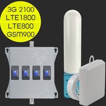 ยุโรป Repeater 4G LTE 800 900 1800 2100 4G อินเทอร์เน็ต Amplifier สัญญาณมือถือ Booster GSM 2G 3G 4G โทรศัพท์มือถือสัญญาณ Repeater