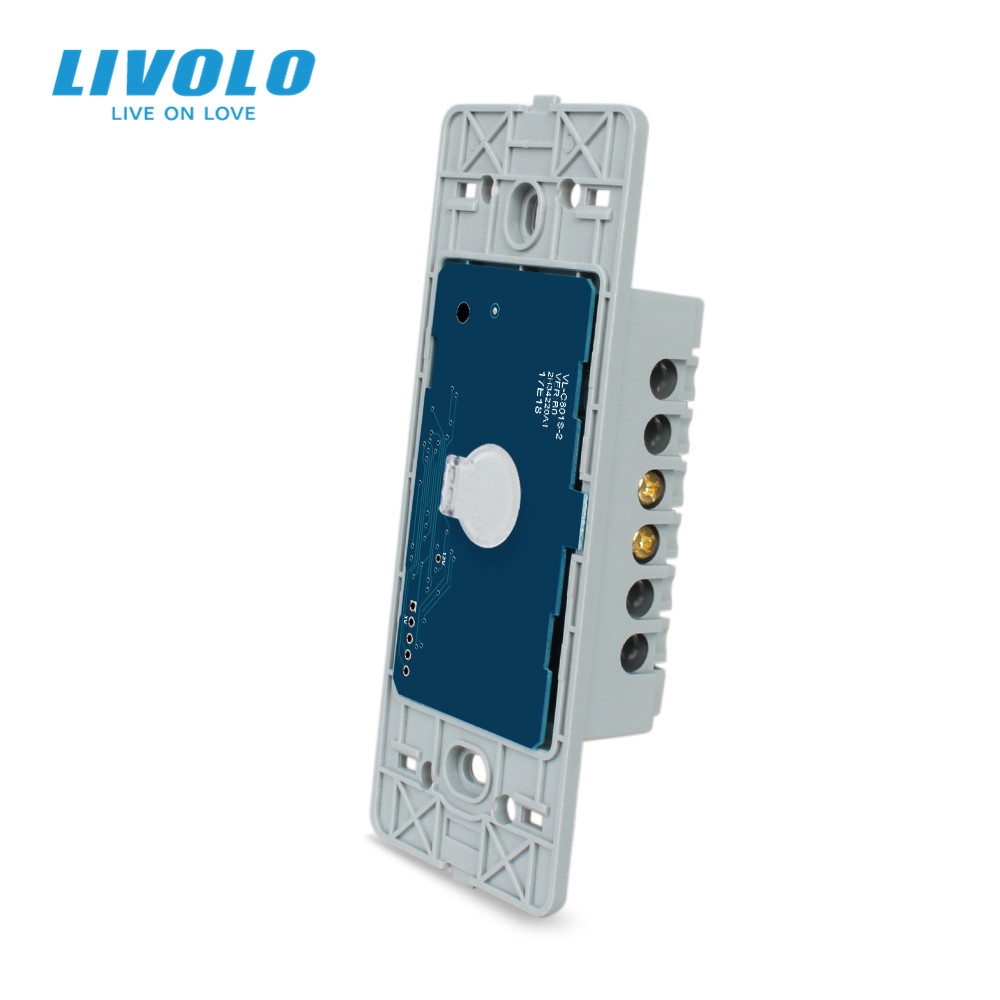 Livolo US standard Base Of  Wall Light Touch Screen Remote Wireless dimmer doorbell Switch110 250V1WayWithout glass panel