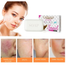 Collagen wrinkle-resistant whitening soap Eliminate freckles and acne Antipruritic Anti-inflammatory Antifungal Cleaning Soap antibacterial and antifungal lectins from leguminous plants