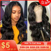 Lovely Queen 4X4 Closure Wig Body Wave Closure Wig Pre Plucked Human Hair Wigs For Black Women 150/180 Density Lace Closure Wigs