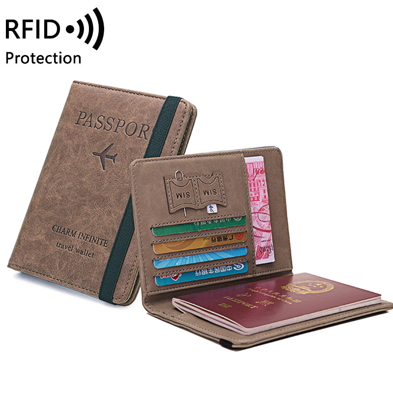 RFID Vintage Business Passport Covers Holder Multi-Function ID Bank Card Women Men PU Leather Wallet Case Travel Accessories New