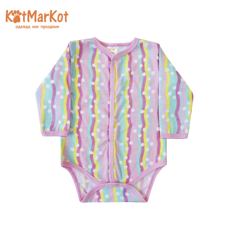 Bodysuits Kotmarkot 9792  for boys and girls body for newborns baby t-shirts Cotton Streetwear Baby Girls недорго, оригинальная цена