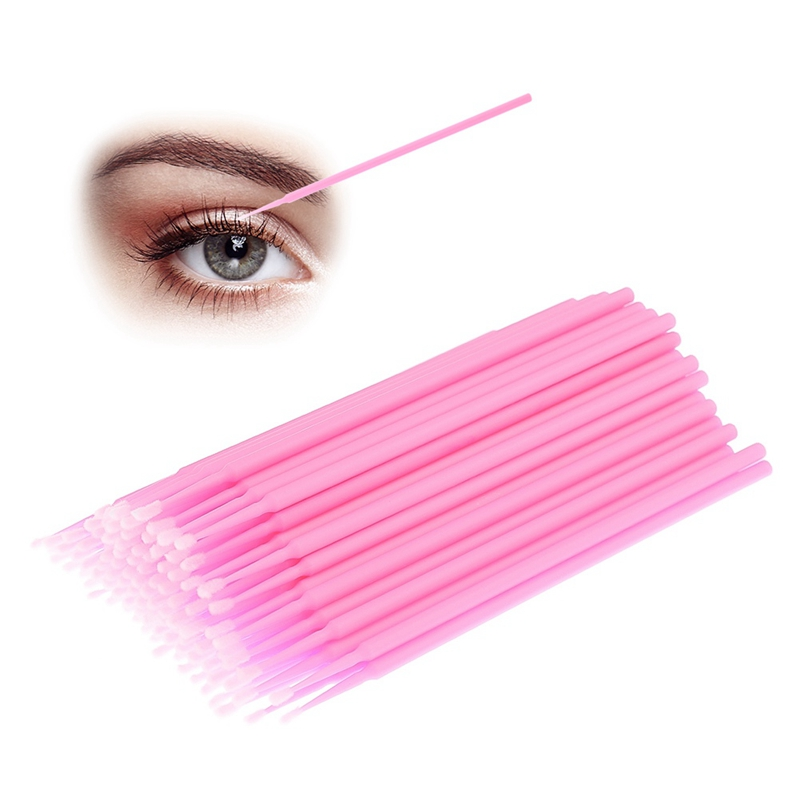 Professional Disposable Eyelash Brush Cleaning Stick Eyebrows Eye And Eyelashes Eyelashes Cotton Swabs Cotton Swabs 100Pcs