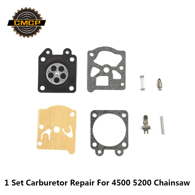 1set Carburetor Repair Kit Chainsaw Spare Parts Gasket Diaphragm For 4500 5200 Chainsaw Repair Kit Garden Parts Diaphragm Gasket