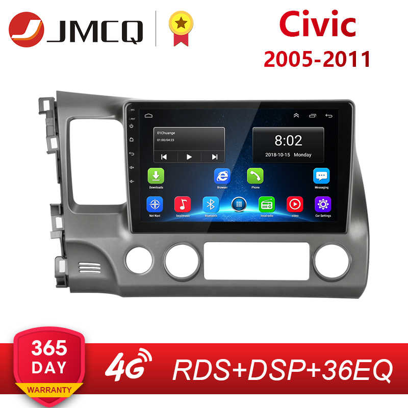 2G 32G Android 8.1 4G Wifi Autoradio Multimedia Video Speler Voor Honda Civic 2005-2011 navigatie Gps 1024*600 + Speciale Frame