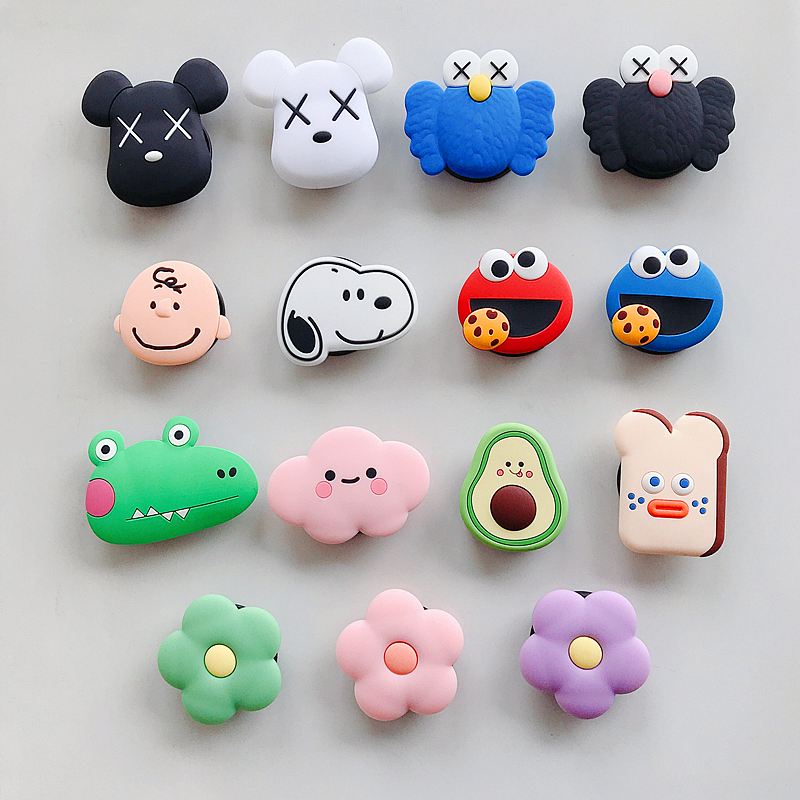 Cute Cartoon Gasbag Universal Mobile Cell Phone Holder Finger Ring Bracket Airbag Expanding Stand And Grip For Iphone XR Samsung
