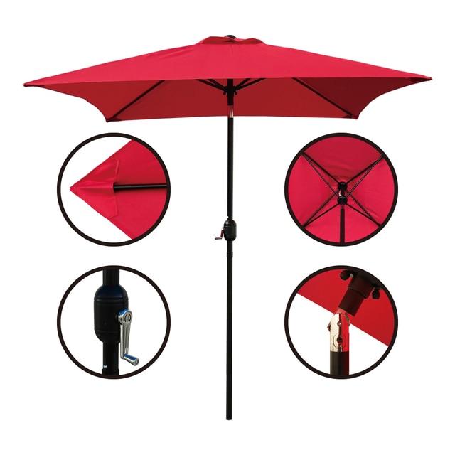 Patio Umbrella 6.5 Ft Square with Tilt and Crank 5