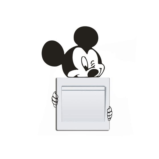 Disney Cute Mickey Switch Vinyl Decal Funny Micky Lights Sticker Kids Room Decor Art Home Decals