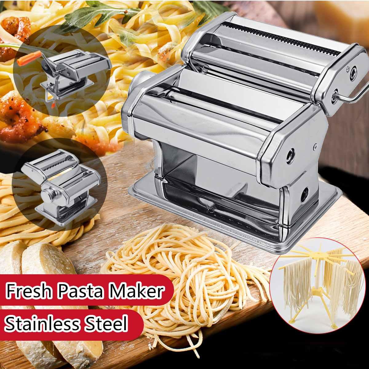 Hand Kurbel Edelstahl Frische Pasta Maker Roller Maschine Für Spaghetti Nudel Knödel Maker