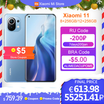 Chinese Version Xiaomi Mi 11 8GB RAM 256GB ROM Smartphone Snapdragon 888 Octa Core 108MP Rear Camera 55W Fast Charge 4600mAh