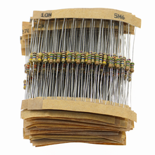 560pcs 56 Valores 1/4W 5% Carbon Film Resistor Assorted Kit Set 1 ohm ~ 10M ohm amantes Eletrônicos Resistor