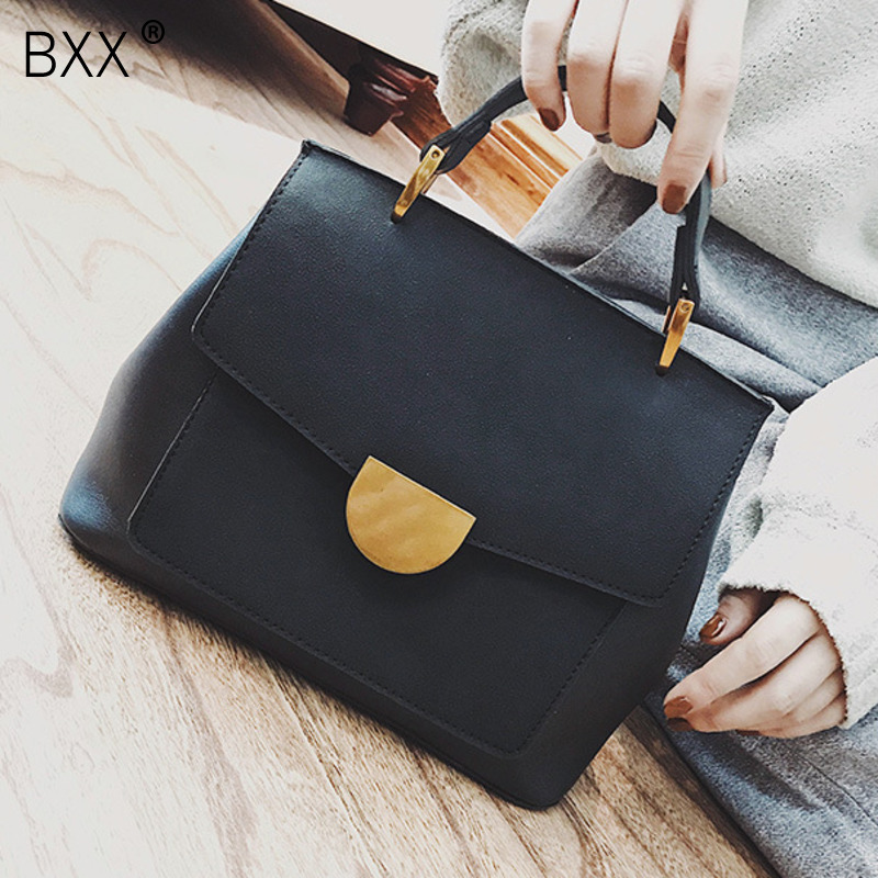 [BXX] High Capacity Bag For Women 2020 Spring Quality PU Leather Ladies Designer Handbags Female Shoulder Messenger Bags HK758