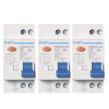 Автоматический выключатель CHNT, 1P + N DPNL 6A 10A 16A 20A 25A 32A, остаточный ток, RCBO MCCB 36 мм, 1 шт.