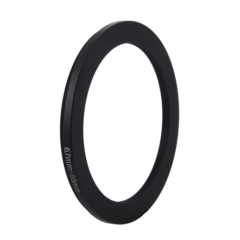 67mm To 55mm Black Step Down Ring Adapter For Camera