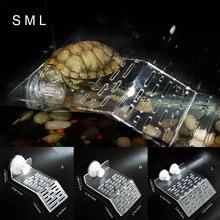 Черепаха греется на террасе остров акриловая черепаха рептилии док Плавающая Платформа подъем Террариум аквариум украшения SNO88