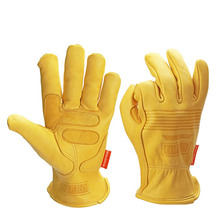 New Motorcycle Moto Gloves Sheepskin Leather Sports Windproof Anti Cold Anti Snowboard Ski Hiking Hunting Gloves for Men