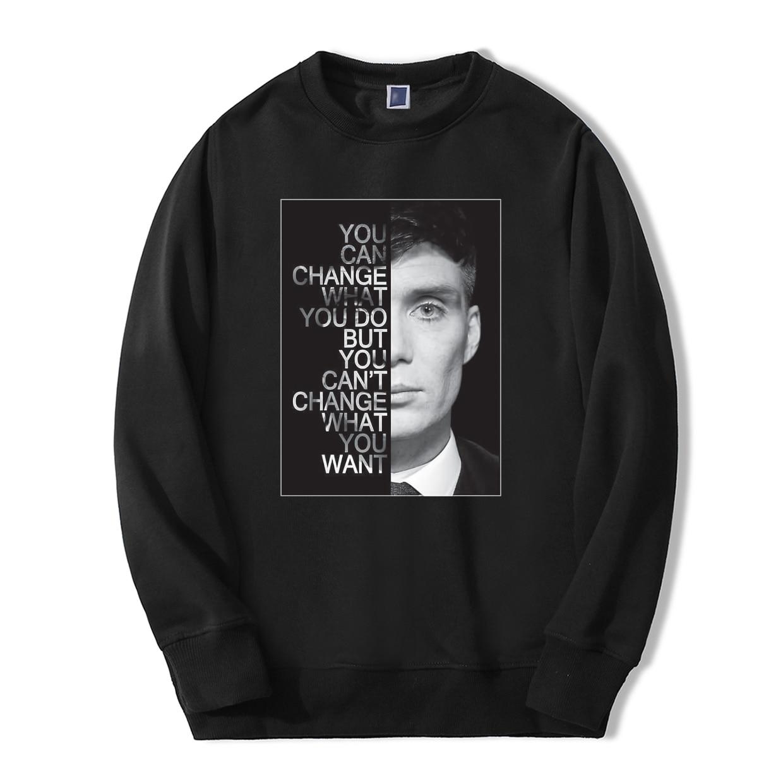 2019 New Spring Winter Men Sweatshirts Hooides Peaky Blinders TV Show Hip Hop Hoodie Fleece Loose Fit Hooded Men's Pullover