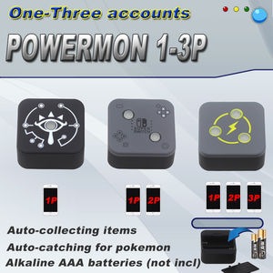 1P 2P 3P Powermon Auto Catch Game Accessory For Pokemon Go Plus for Pokemon GO Plus for iPhone 6/for iOS/Android 7.0(China)