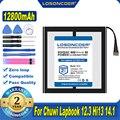 100% Оригинальный LOSONCOER 12800 мА/ч, CWI534 Батарея для Chuwi Lapbook 12,3 Hi13 14,1 планшетный ПК Батарея с 7-Отсоединяемый провод батареи