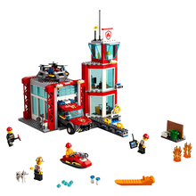 цена на 2019 New City Series Toys Bricks Fire Station Compatible City 60215 Building Blocks Figure For Children Christmas Gift