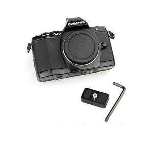 Image 3 - 2pcs/lot FITTEST FP 20 Universal Quick Release Plate W Rubber Cushion 20mm Mini Plate For Compact Camera Canon Fujifilm Olympus
