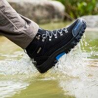 Mannen Wandelschoenen Waterdicht Mannelijke Buitensporten Toerisme Klimmen Schoenen Leer Klimmen Bergschoenen Jacht Laarzen