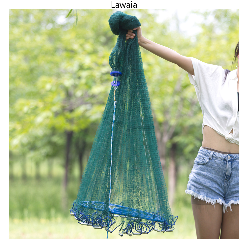 Lawaia Fishing Net Wholesale Cast Nets Fly Hand Throw Network Catch Fish Tool