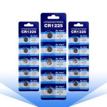 Batteries au Lithium de remplacement 3 V CR1225, pour calculatrice, montre, jouet, YCDC, 15 pièces, LM1225 BR1225 ECR1225 KCR1225