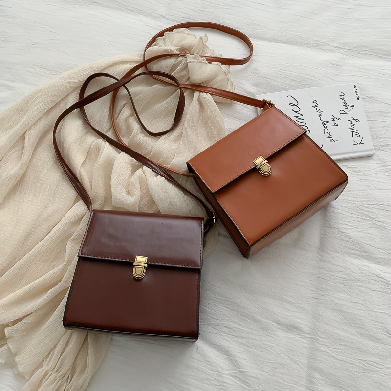 Новые брендовые модные корейские кожаные женские сумки высокого качества, винтажные сумки на плечо, женские вечерние сумки через плечо, сумка мессенджер|Сумки с ручками|   | АлиЭкспресс - Аналоги сумок с показов мод осень-зима 2020/21