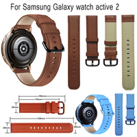 Echtes Leder Armband 20mm Handgelenk Riemen Für Samsung Galaxy Uhr aktive 2 Getriebe S2 Garmin venu sq Smart Uhr gürtel Armband