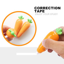 1 pc Lovely Carrot Press Type Practical Correction Tape Diary Stationery School Supply