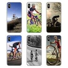 Para Huawei Honor 7X V10 6C V9 6A jugar 9 Mate 10 Pro Y7 Y5 P8 P10 Lite más GR5 2017 bicicleta equipo bicicleta ciclismo logotipo TPU caso suave