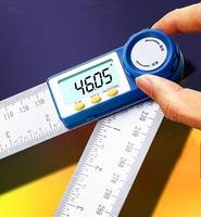 Aggiornamento! Goniometro Piazza Righello Angle Meter Digital Contorno Goniome Goniometro Misura Falegname Finder Inclincometer