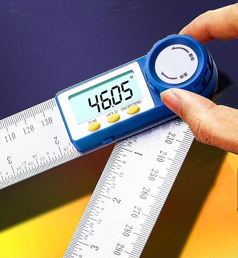 Upgrade!Goniometer Square Ruler Digital Angle Meter Contour Goniome  Protractor Measuring  Carpenter Finder Inclincometer