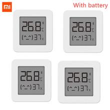 Xiaomi-bezprzewodowy inteligentny termometr i higrometr cyfrowy Mijia 2 urządzenie do mierzenia temperatury i wilgotności elektryczny Bluetooth współpraca z aplikacją Mijia najnowsza wersja tanie tanio CN (pochodzenie) Wireless Smart Electric Digital Hygrometer Thermometer Work with Mijia Ready-to-go 1 18 MAGNETIC Gniazdo