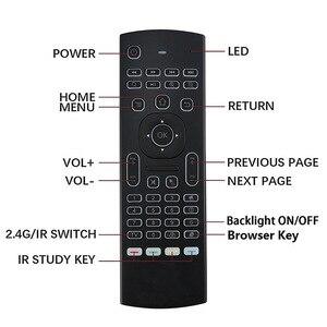 Image 5 - Controle remoto de voz mx3 MX3 L air mouse, 2.4g sem fios, teclado para x96 mini km9 a95x caixa de tv android h96 max