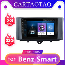 2 din Android 8.1 GO Car Multimedia video Player For Mercedes Benz S-mart fortwo 2011-2015 2DIN Car Radio GPS Android navigation(China)