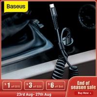 Baseus-Cable USB tipo C para xiaomi mi 9 mi 8 a2, accesorio de almacenamiento de estilo de coche, Cable de carga 2A tipo C para Samsung S9 S8
