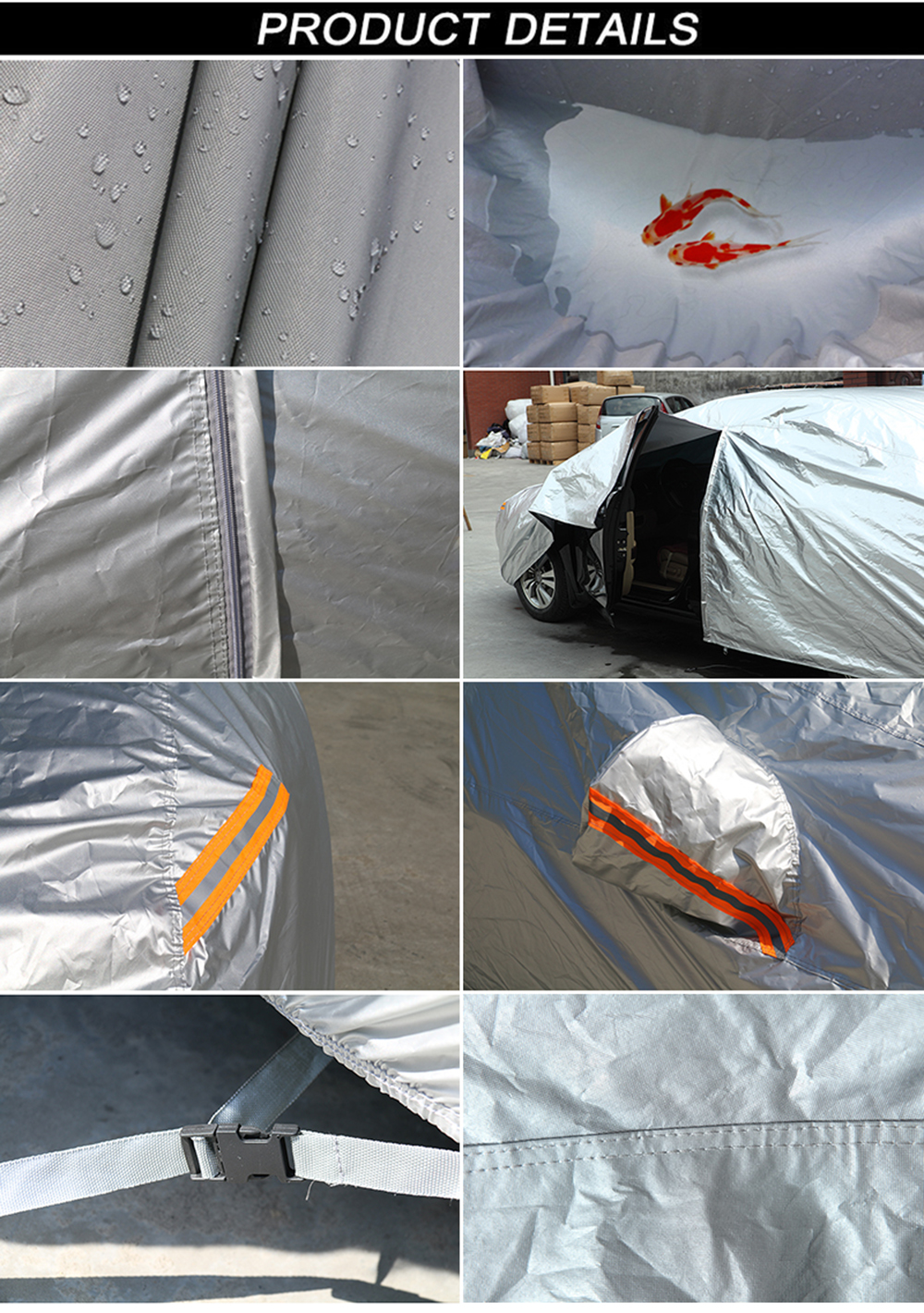 waterproof car covers outdoor sun protection cover for car reflector dust rain snow protective