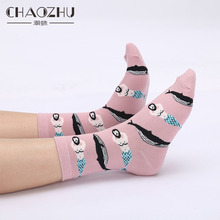 Socks Women Ice-Cream Unicorn Character Pink Girls Japanese Cartoon Cotton Casual Sweet