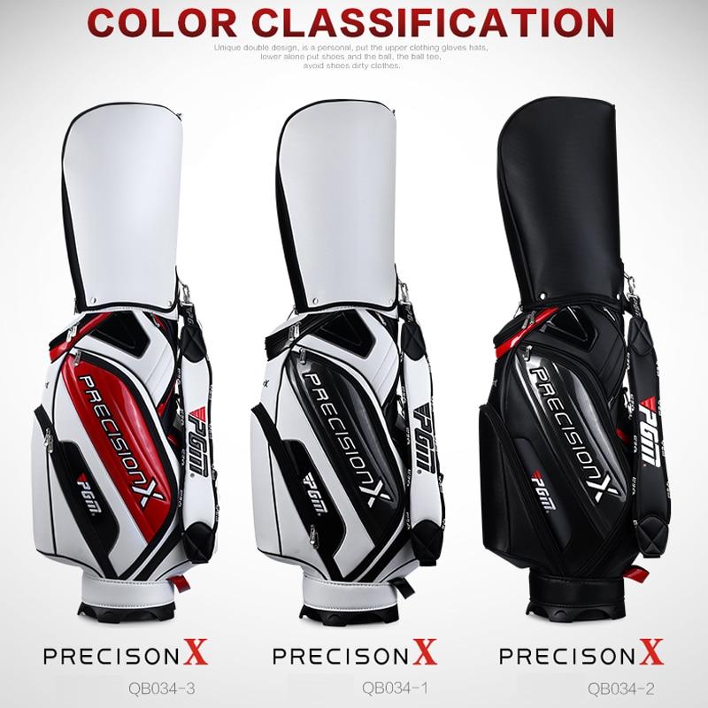 PGM véritable Golf Sport paquet Standard Caddy hommes Golf panier sac professionnel balle personnel sac avec couverture serpent lignes imperméable PU