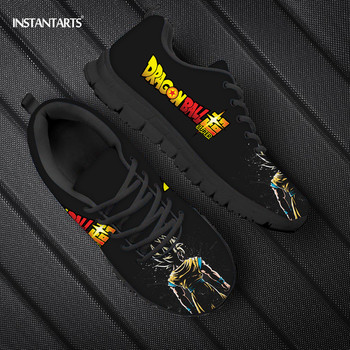 INSTANTART Dragon Ball Z Anime Mens Shoes Lace Up Walking Sneakers Boys Brand Designer Super Saiyan Fashion Sneaker for Men