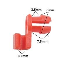 KA LI 50Pcs Red Plastic Door Lock Rod Retaining Clip Universal Car Fastener Clips