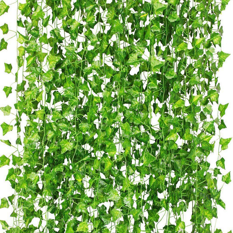 36Pcs Artificial Plants of Vine False Flowers Ivy Hanging Garland for the Wedding Party Home Bar Garden Wall Decoratio image