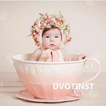 Реквизит для детской фотосъемки железная корзина чайная чашка аксессуары для детской студийной фотосессии подарок для душа