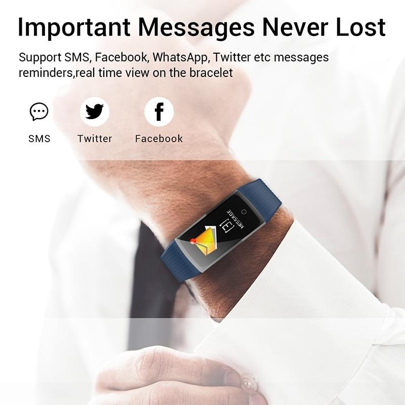 H6919a2518a3f429ea276dba00390e4d6o R12 Smart Band Bracelet Fitness Bracelet with Pressure Measurement Health Wristband Pedometer Heart Rate Monitor Cardio Bracelet